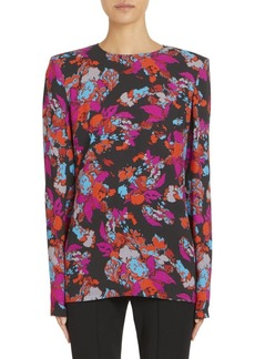 Givenchy Fire Flower Silk Blouse