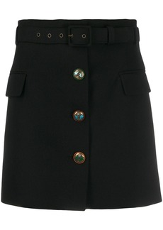 Givenchy fitted button detail skirt