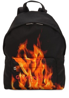 Givenchy Flame & Logo Printed Nylon Backpack