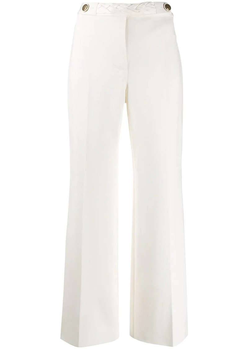 Givenchy flared braided trousers