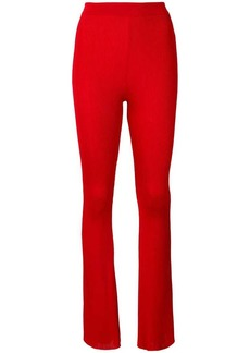 Givenchy flared ribbed trousers