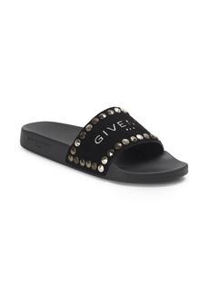 Givenchy Flat Pool Studded Leather Slide