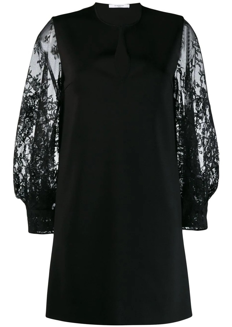 Givenchy floral lace sleeved dress