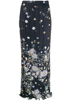 Givenchy floral pleated maxi skirt