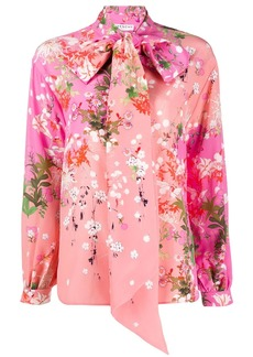 Givenchy floral-print bow-tie blouse
