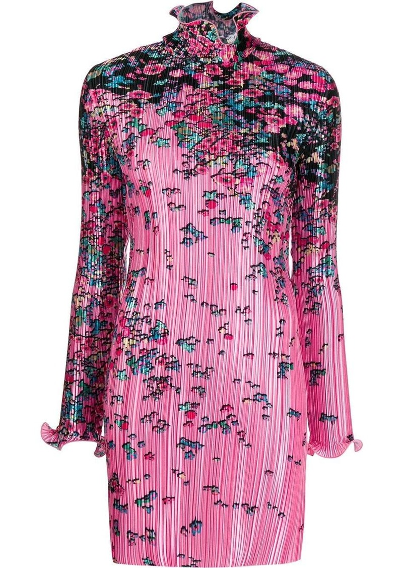 Givenchy floral-print pleated satin dress
