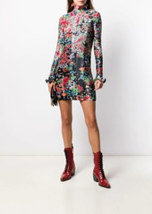 Givenchy floral print pleated short dress