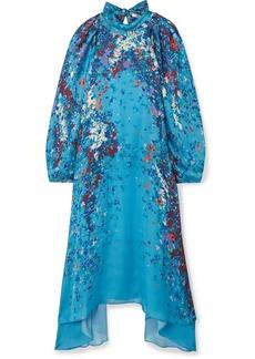 Givenchy Floral-print Silk-satin Midi Dress