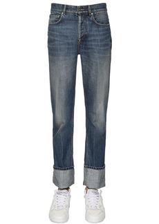 Givenchy Folded Hem Cotton Denim Jeans