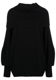 Givenchy foldover rib knit sweater