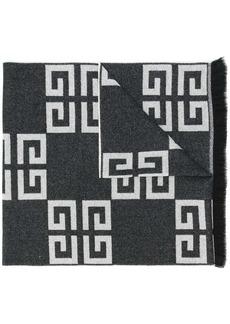 Givenchy fringed logo scarf