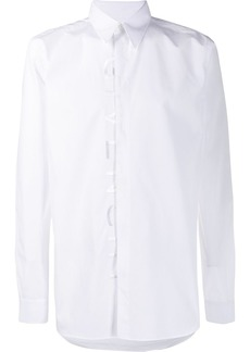 Givenchy front embroidered logo shirt