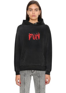 Givenchy Fun Printed Hooded Cotton Sweatshirt