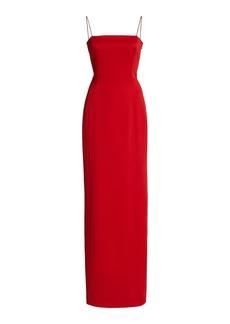 Givenchy - Women's Satin Maxi Dress - Red - Moda Operandi