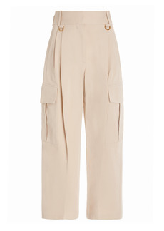 Givenchy - Women's Tapered Cotton Cargo Pants - Neutral - Moda Operandi
