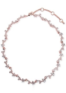 """Givenchy 16"""" Flower Collar Necklace"""