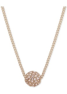 """Givenchy 16"""" Necklace, Rose Gold-Tone Crystal Fireball Pendant Necklace"""
