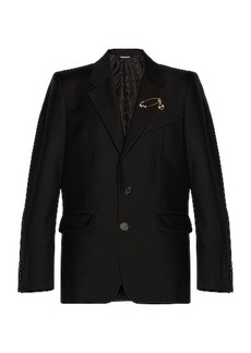 Givenchy 2 Button Notch Lapel Jacket with Pin