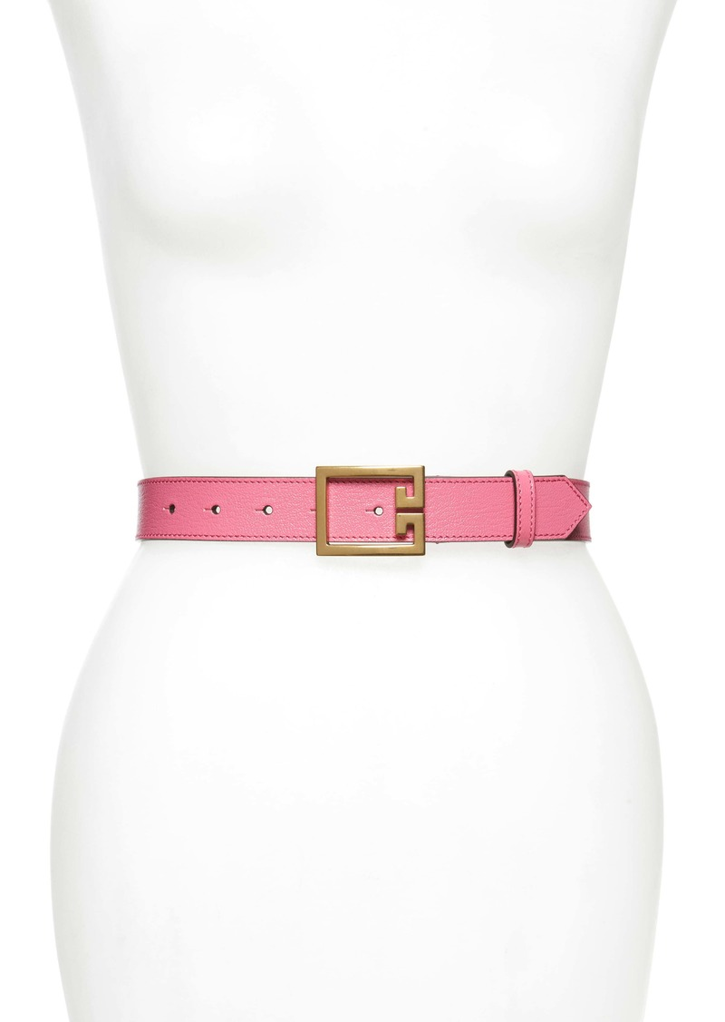 Givenchy 2G Buckle Leather Belt
