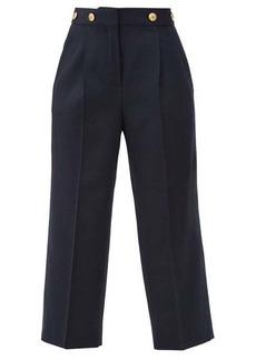 Givenchy 4G-buttons high-rise wool grain de poudre trousers