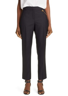 Givenchy 4G Chain Wool Cigarette Trousers