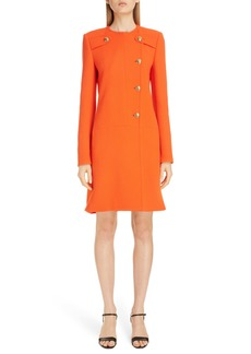 Givenchy 4G Dagger Button Wool A-Line Coat
