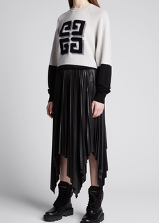 Givenchy 4G Front Bicolor Cashmere Sweater