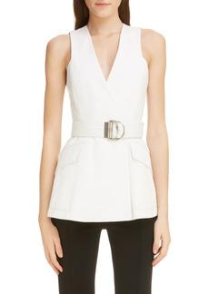 Givenchy 4G Logo Button Cotton Vest