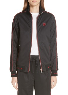 Givenchy 4G Logo Embroidered Neoprene Track Jacket