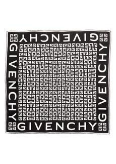 Givenchy 4G Logo Silk Twill Scarf