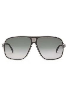 Givenchy 4G-mesh Navigator coated-metal sunglasses