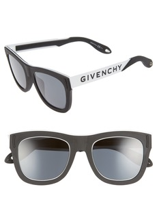Givenchy 52mm Mirrored Rectangular Sunglasses