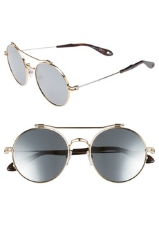 Givenchy 53mm Round Aviator Sunglasses