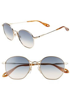 Givenchy 53mm Squared Round Metal Sunglasses