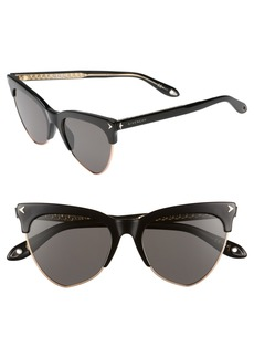 Givenchy 54mm Polarized Cat Eye Sunglasses