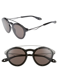 Givenchy 54mm Round Polarized Sunglasses