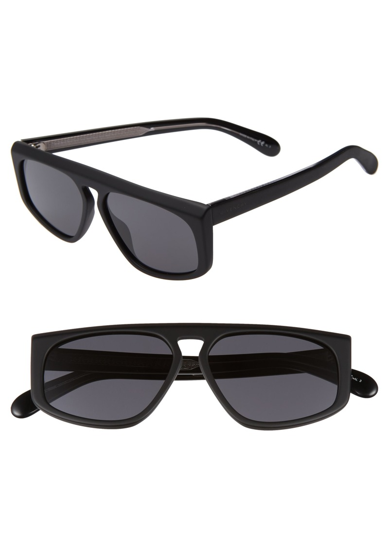 Givenchy 55mm Flat Top Sunglasses