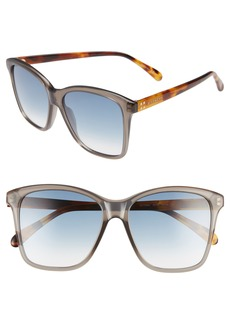 Givenchy 55mm Gradient Square Sunglasses