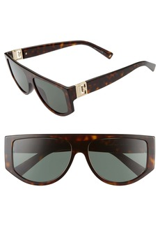 Givenchy 56mm Flat Top Sunglasses