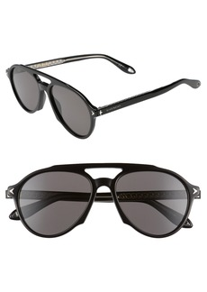 Givenchy 56mm Polarized Aviator Sunglasses