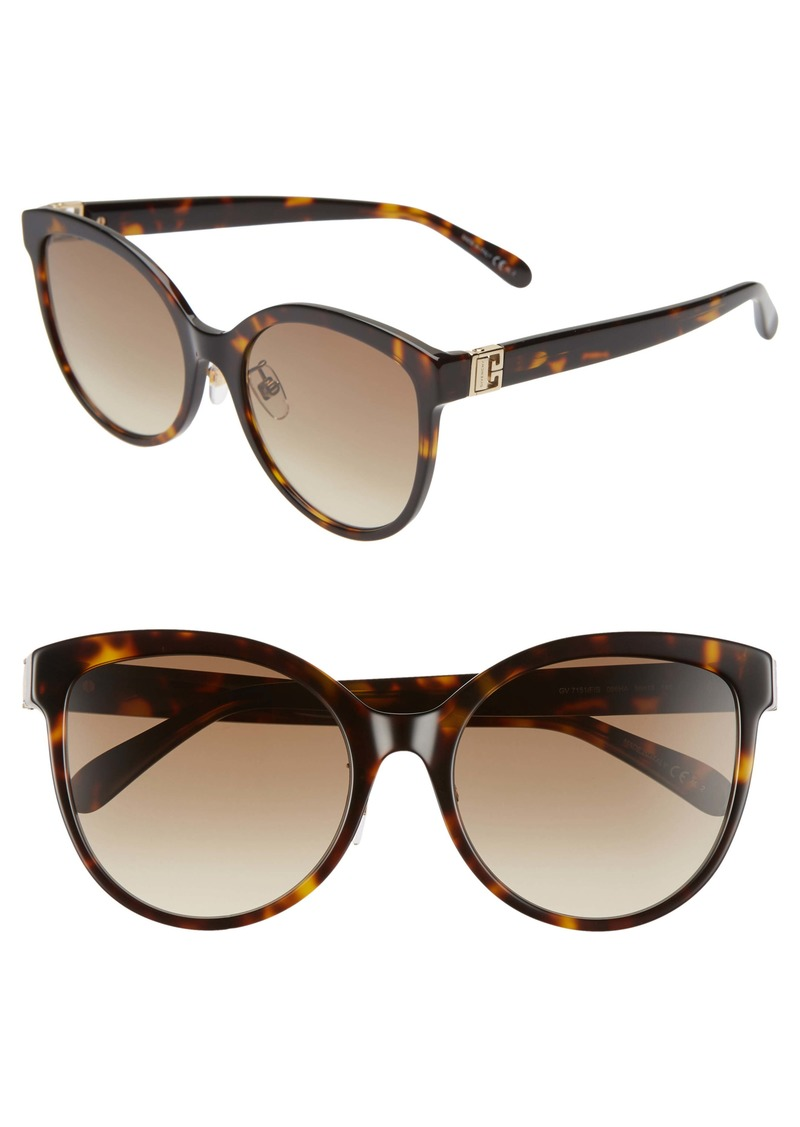 Givenchy 56mm Special Fit Gradient Round Sunglasses