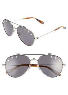 Givenchy 58mm Aviator Sunglasses