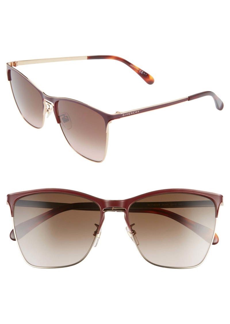 Givenchy 58mm Cat Eye Sunglasses
