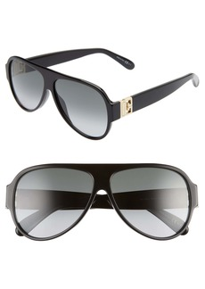 Givenchy 58mm Gradient Aviator Sunglasses