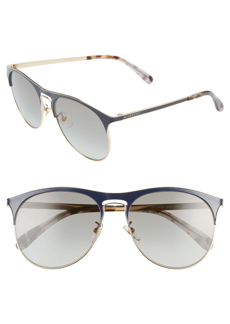 Givenchy 58mm Gradient Round Sunglasses