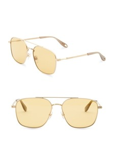 Givenchy 58MM Metal Navigator Sunglasses