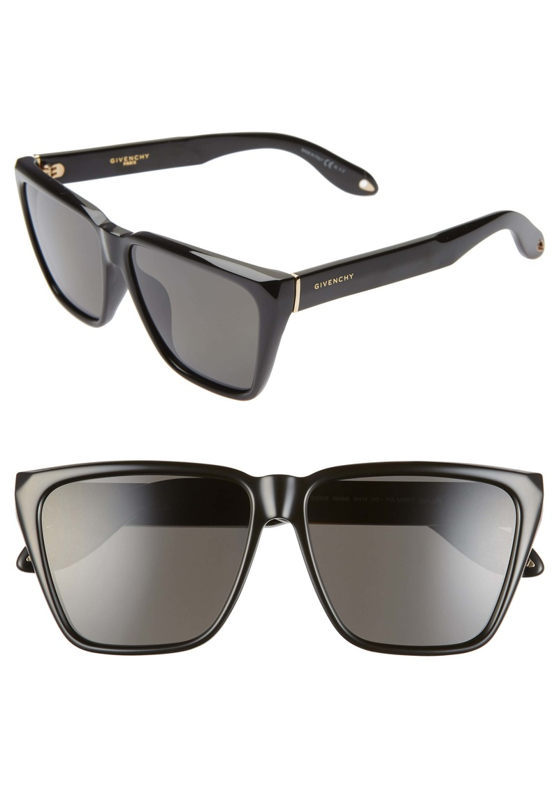 Givenchy 58mm Polarized Flat Top Sunglasses