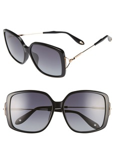 Givenchy 58mm Square Sunglasses