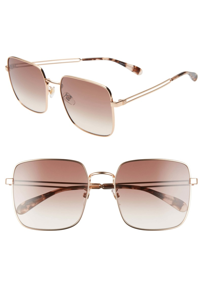 Givenchy 59mm Special Fit Gradient Square Sunglasses