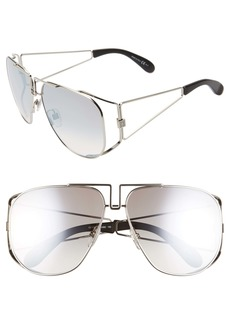 Givenchy 61mm Aviator Sunglasses